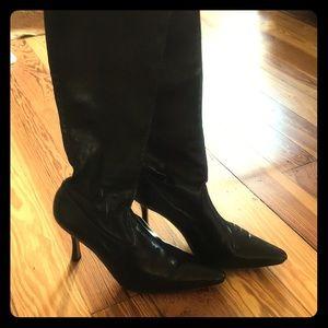 Manilo Blahnik authentic leather stiletto boots